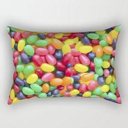 Jelly Bean Candy Photo Pattern Rectangular Pillow