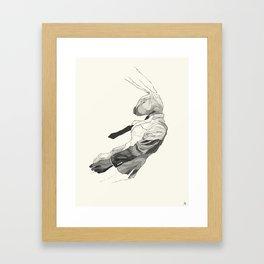 Falling Mr. Lapin Framed Art Print