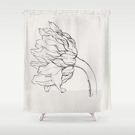 Sunflower Ink Illustration Light Shower Curtain