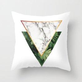 Geometric Tropical Marble Throw Pillow