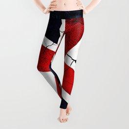 Punk Grunge Union Jack British Flag Leggings