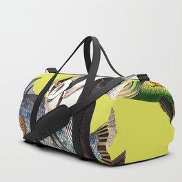 Fish World yellow Duffle Bag