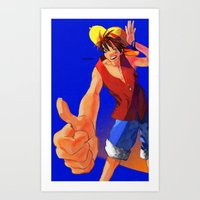 Good Vibes Luffy Art Print