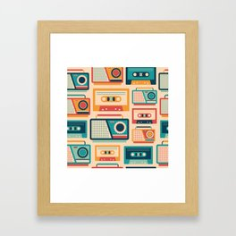 Audio Cassettes and Radios Framed Art Print