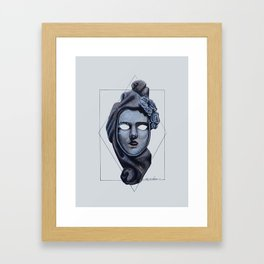 Female Venetian Mask | Watercolor and Colored Pencil  Framed Art Print
