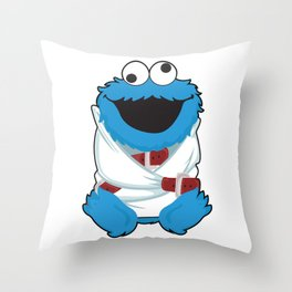 *addicted. Throw Pillow