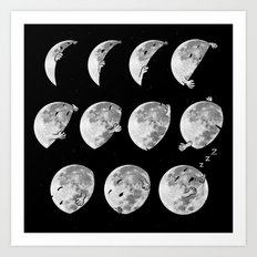 lunar phases of sleep Art Print