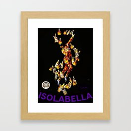 Vintage 1920's Leonetto Cappiello  IsolaBella Lithograph Advertising Wall Art Style 3 purple text Framed Art Print