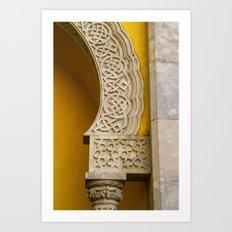 Yellow Arch Art Print