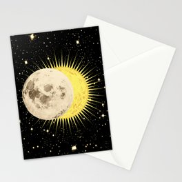 'Imminent Eclipse' Sun Moon & Stars Stationery Cards