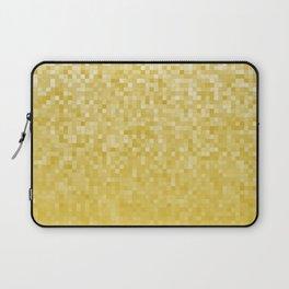 Pixels Gradient Pattern in Yellow Laptop Sleeve