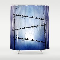 agnes Shower Curtains featuring Barricade by Viviana Gonzalez