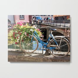 Strasbourg, France Bicycle Metal Print
