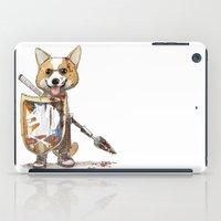 bouletcorp iPad Cases featuring Corgi Barbare by Bouletcorp