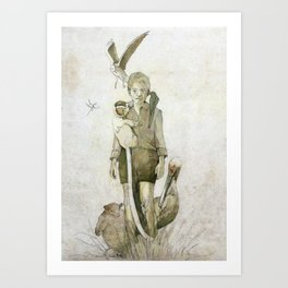 My family and other animals Art Print