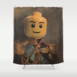 Le-go Man General Portait Painting | Fan Art Shower Curtain