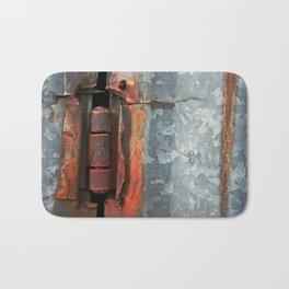Hinge and Rust Wave Bath Mat