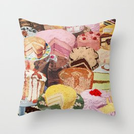 The Icing on the Cake(s) Throw Pillow