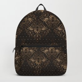 Persian Oriental pattern wood and gold Backpack