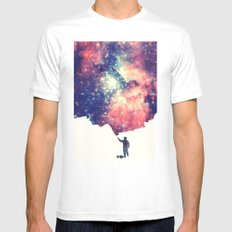 Painting the universe Mens Fitted Tee LARGE White