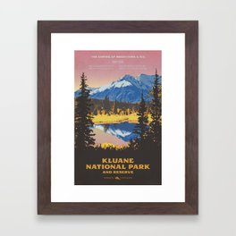 Kluane National Park and Reserve Framed Art Print