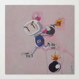 """Three Stripes"" Bomberman Canvas Print"