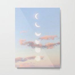 Delicate Moonrise Metal Print