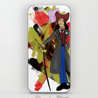 captain hook iPhone & iPod Skins featuring Disneyland Captain Hook - Evil Relations by Joey Noble