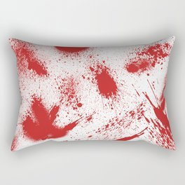 Bloody Blood Spatter Halloween Rectangular Pillow