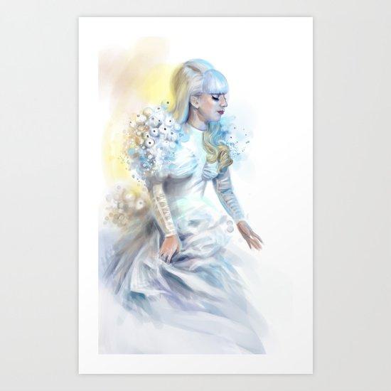Mother Monster in  white Art Print