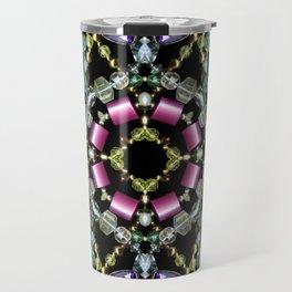 Bling Jewel Kaleidoscope Scanography Travel Mug