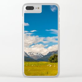 Beautiful Pastoral Alpine Landscape in New Zealand Clear iPhone Case
