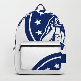 American Cameraman USA Flag Icon Backpack