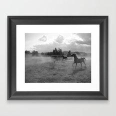 Horses Running Framed Art Print