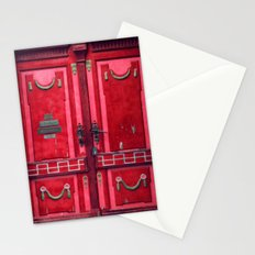 red door Stationery Cards