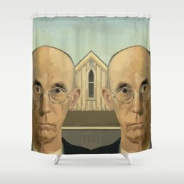 Gay American Gothic - LGBT Marriage Equality Shower Curtain