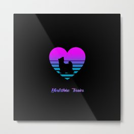 Yorkshire Terrier Love Cyberpunk Vaporwave Dog Puppy Gift Metal Print