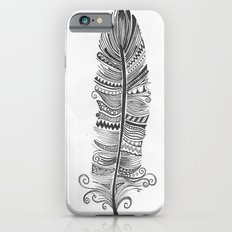 Black and White Feather Zen iPhone 6s Slim Case