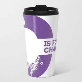 C is for Chameleon - Animal Alphabet Series Travel Mug