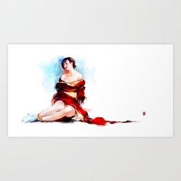 Kimono of passion No.5 Art Print