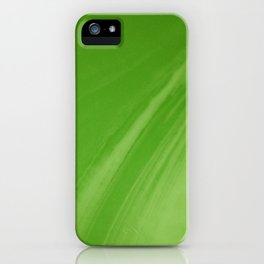 Blurred Emerald Green Wave Trajectory iPhone Case