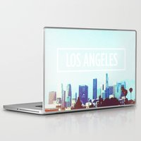 los angeles Laptop & iPad Skins featuring Los Angeles by Heather St. Marie