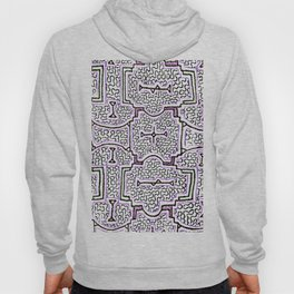 Song to Support Good Health - Traditional Shipibo Art - Indigenous Ayahuasca Patterns Hoody