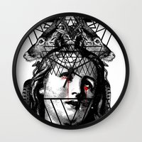 pain Wall Clocks featuring PAIN by DIVIDUS