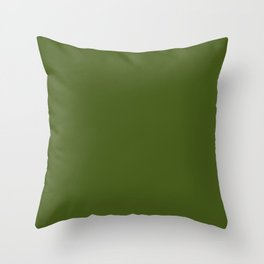 Olive Green Throw Pillow