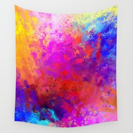 Colorful Splatter Wall Tapestry