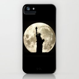 Full Moon Liberty Silhouette  iPhone Case