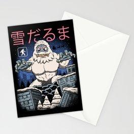 Kaiju Snowman Stationery Cards