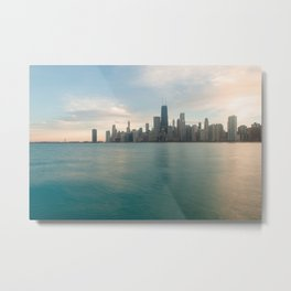 Tonight -Chicago Skyline Photography Metal Print