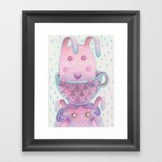 Head in a cup Framed Art Print